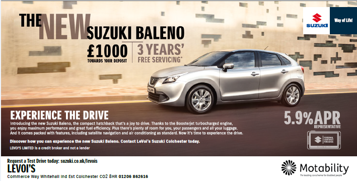 Baleno 3 Years Free Servicing & £1,000 Deposit Contribution