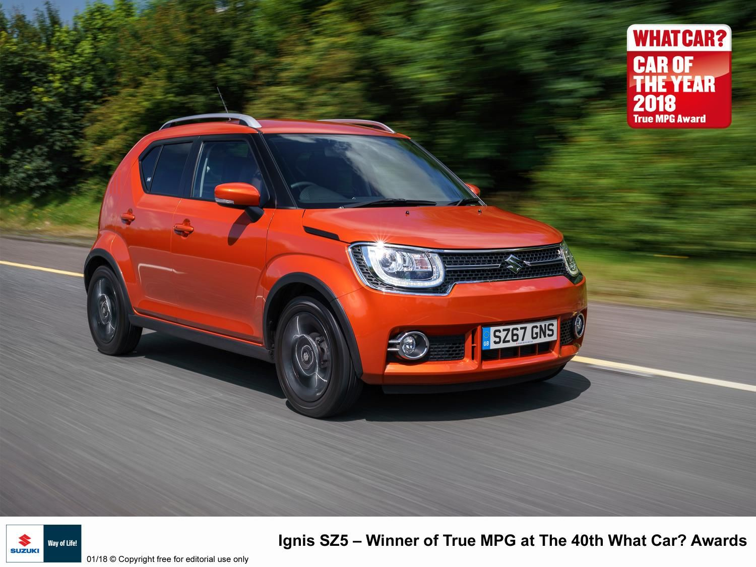 SUCCESS FOR SUZUKI AT THE 40th WHAT CAR? AWARDS